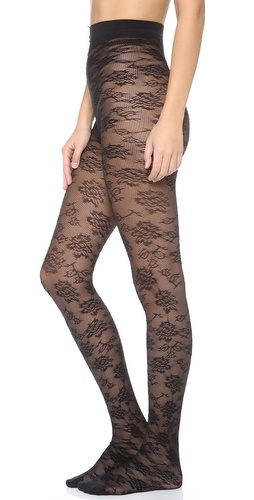 alice + olivia Alice and Olivia by Pretty Polly Lace Tights at Shopbop / East Dane