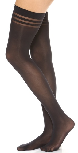 alice + olivia Alice and Olivia by Pretty Polly Opaque Thigh Highs at Shopbop / East Dane