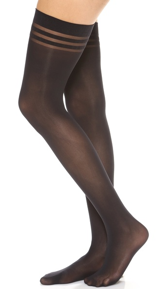 alice + olivia Alice and Olivia by Pretty Polly Opaque Thigh Highs