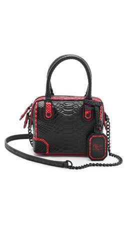 alice + olivia Snake Embossed Mini Olivia Bag