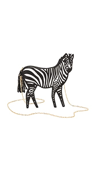 alice + olivia Zebra Clutch