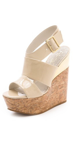 alice + olivia Steffie Platform Wedges at Shopbop.com