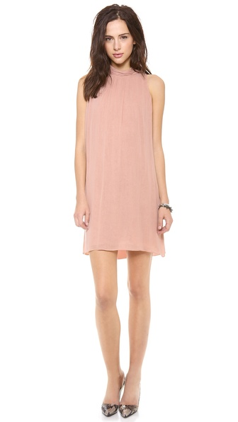 alice + olivia Rhiannon Mock Neck Tent Dress