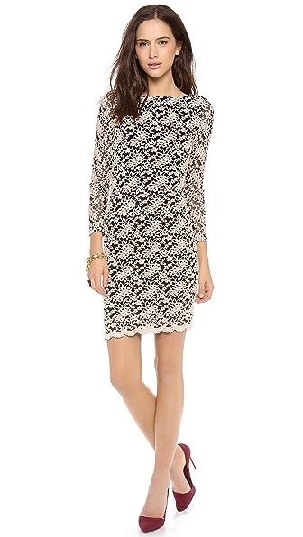 alice + olivia Khole Open Keyhole Back Dress
