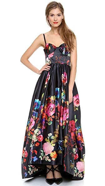 alice + olivia Addie Bustier Full Gown