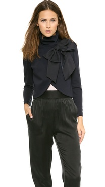 alice + olivia Addison Bow Crop Jacket