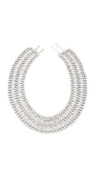 alice + olivia Rhinestone Round Collar Necklace