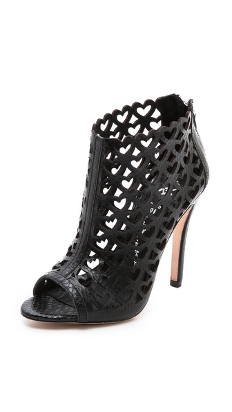alice + olivia Gerri Heart Cutout Booties