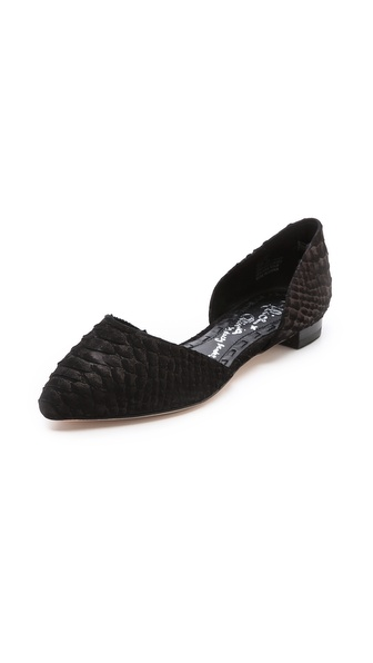 Alice + Olivia Hilary D'Orsay Flats - Black at Shopbop / East Dane