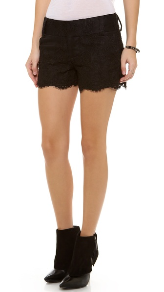alice + olivia Lace Scallop Shorts