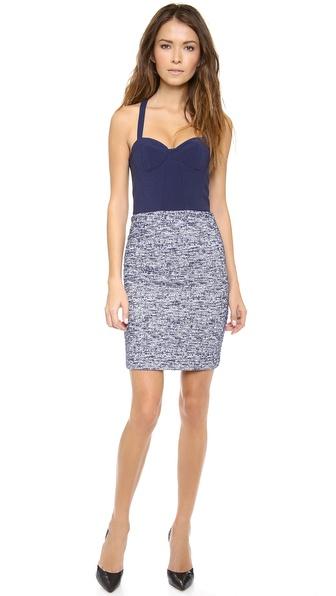 alice + olivia Dixie Cutout Back Bustier Dress