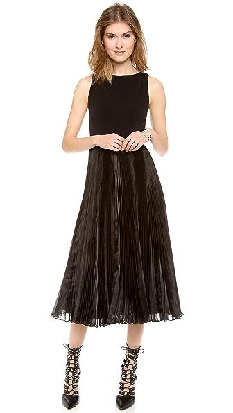 alice + olivia Veena Pleated Dress