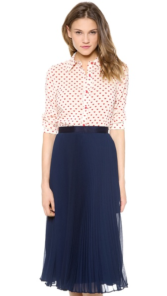 alice + olivia Bryant Button Down Top