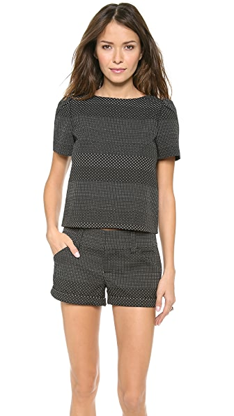 alice + olivia Boxy Short Flowy Sleeve Top