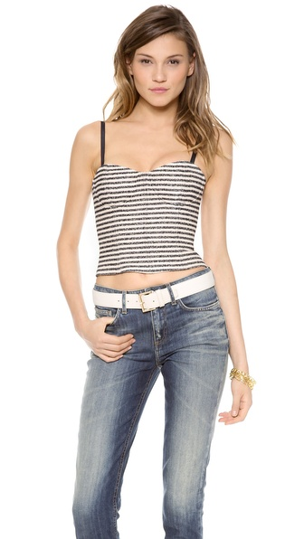 alice + olivia May Spaghetti Strap Bustier Top