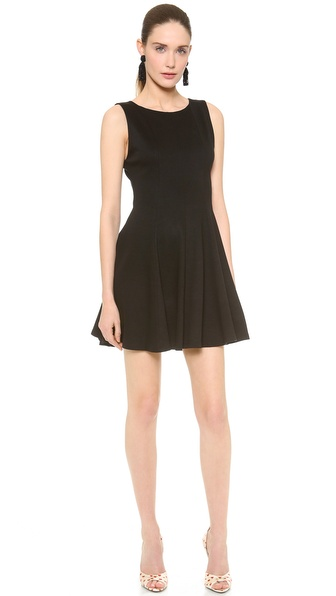 alice + olivia Betsey Seamed Fit & Flare Dress