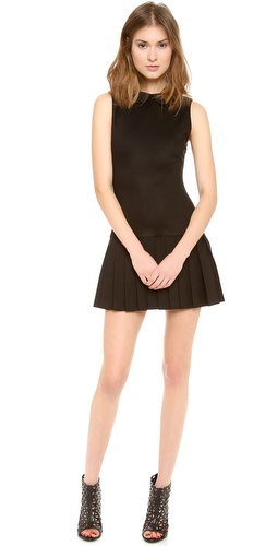 alice + olivia Erica Sleeveless Pleat Dress at Shopbop / East Dane