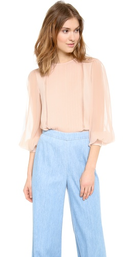 alice + olivia Liv Pleat Front Blouse at Shopbop / East Dane