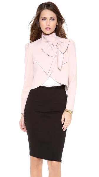 alice + olivia Addison Bow Jacket