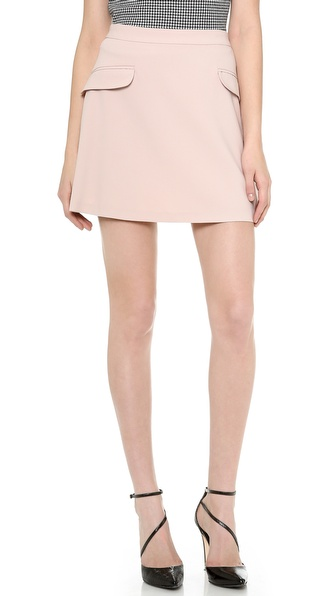 Alice + Olivia Tabby High Waisted Skirt - Light Pink at Shopbop / East Dane