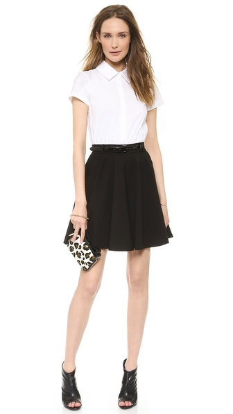 alice + olivia Zoe Combo Shirtdress