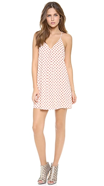 alice + olivia Heart Print Fierra Dress