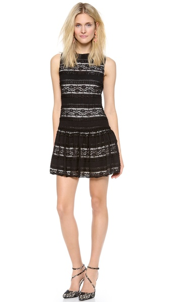 alice + olivia Chap Drop Waist Dress