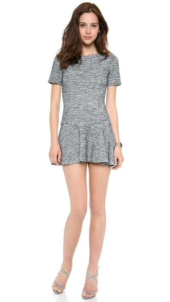alice + olivia Perry Short Sleeve Flare Dress