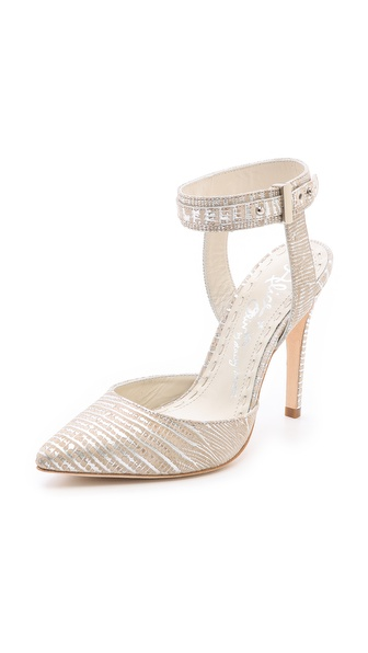Alice + Olivia Dayla Metallic Pumps - Natural/Silver at Shopbop / East Dane
