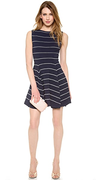 alice + olivia Bolton Ottoman Pinstripe Dress