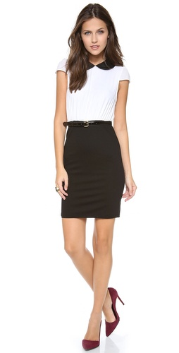 alice + olivia Mariette Combo Dress at Shopbop / East Dane