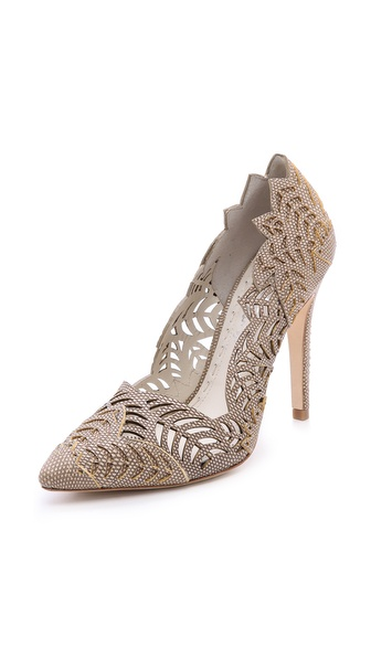 Alice + Olivia Dina Laser Cut Pumps - Natural at Shopbop / East Dane