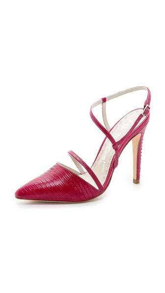 Alice + Olivia Davey Ankle Strap Pumps - Hot Pink at Shopbop / East Dane