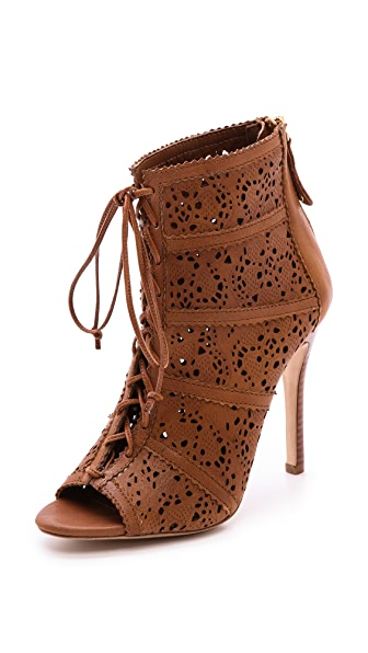 alice + olivia Gale Laser Cut Lace Up Booties
