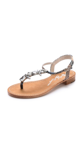 alice + olivia Nia Jeweled Flat Sandals