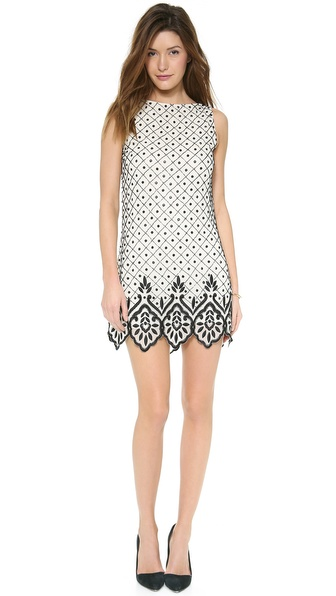 alice + olivia Dot Sleeveless Shift Dress