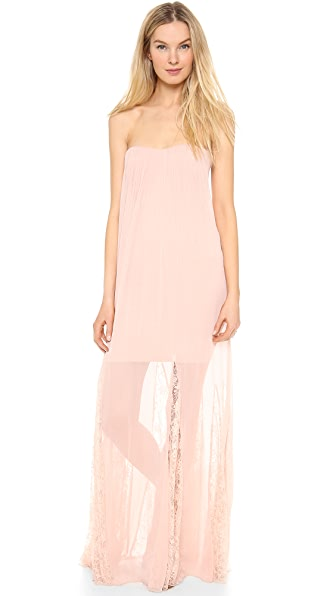 alice + olivia Francesca Strapless Maxi Dress