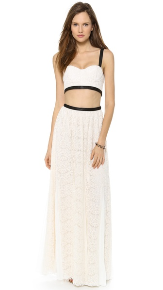 alice + olivia Sveva Bustier Maxi Dress