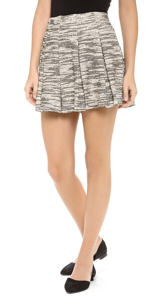 Alice + Olivia Davis Pleated Pouf Skirt - Black Multi at Shopbop / East Dane