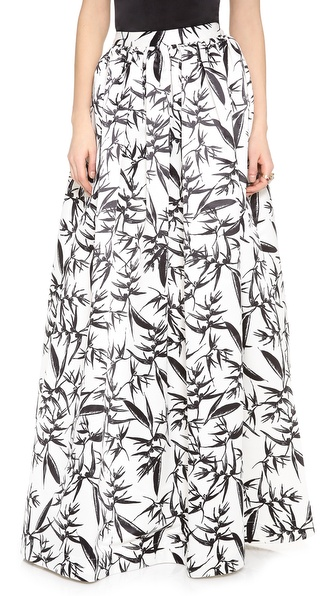 Alice + Olivia Abaella Long Ball Gown Skirt - Botanical Ink at Shopbop / East Dane