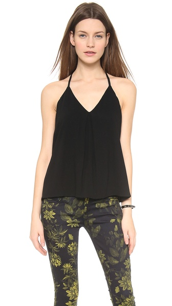 alice + olivia Guenda Tank with Leather