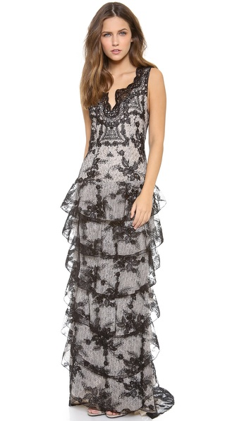 alice + olivia Powell Drop Waist Gown