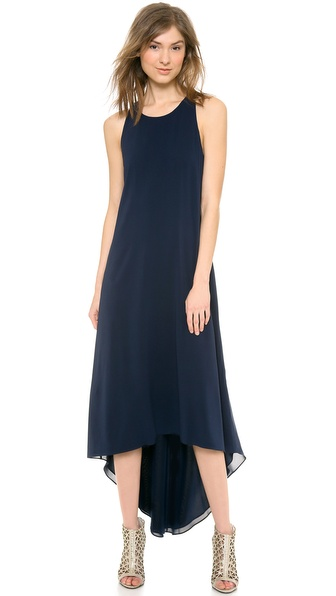 alice + olivia Back Twist Kyhl High Low Dress