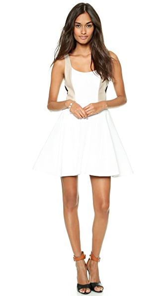 alice + olivia Clifton Sleeveless Flare Dress