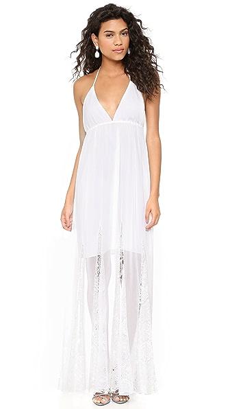 alice + olivia Mcbain Long Halter Dress