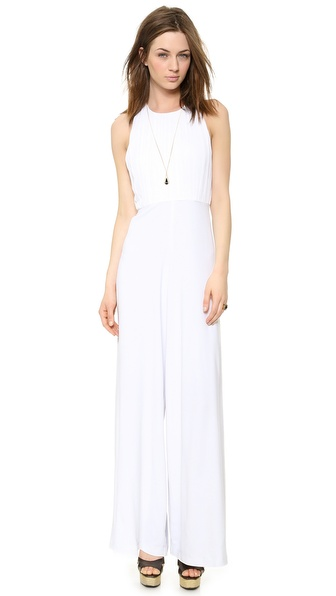alice + olivia Gab Pleated Halter Neck Jumpsuit