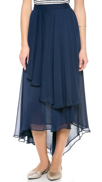 Alice + Olivia Andy High Low Maxi Skirt - Sapphire at Shopbop / East Dane