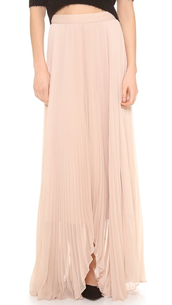 Alice + Olivia Norris Pleated Sunburst Maxi Skirt - Nude at Shopbop / East Dane