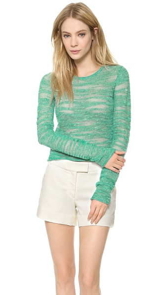 Alice + Olivia Fallon Cropped Sweater - Green at Shopbop / East Dane