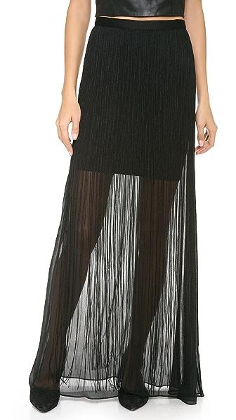 alice + olivia Caitlin Fringe Maxi Skirt